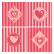 Cute hearts backgrounds — Stock Vector