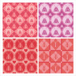 Cute st. valentine's day presents patterns — Imagen vectorial