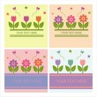 Cute spring backgrounds — Stock Vector