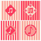 Cute musical backgrounds — ストックベクタ