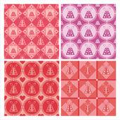 Cute st. valentine's day presents patterns — Stockvector