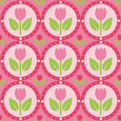 Tulips pattern — Stock Vector