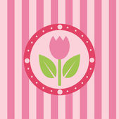 Tulip background — Stock Vector