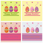 Cute easter backgrounds — Stock Vector
