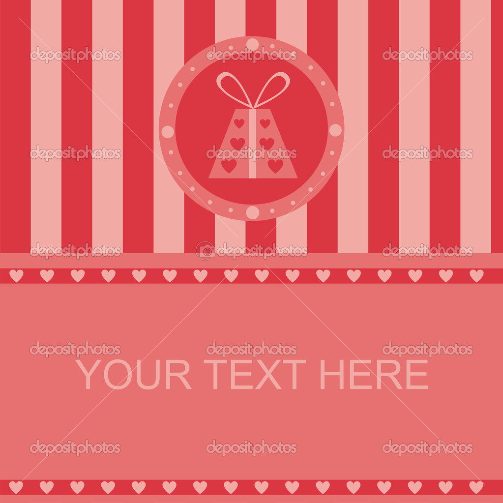Cute st. valentine's day presents frame — Stock Vector #4924201