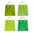 St. patrick's day shopping bags — Stock Vector