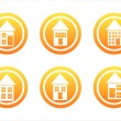 Royalty-Free Stock Vector Image: Orange house signs