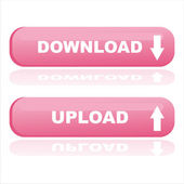 Web buttons download and upload — Stock Vector
