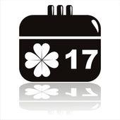 St. patrick's day calendar icon — Stock Vector