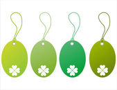 St. patrick's day tags — Stock Vector