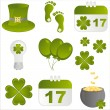 Royalty-Free Stock Vector Image: St. patrick\'s day icons