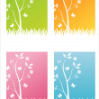 Colorful nature backgrounds — Stock Vector