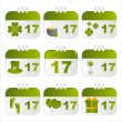 St. patrick's day calendar icons — Stock Vector