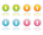 Botones de colores web — Vector de stock