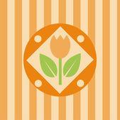 Tulips background — Stock Vector