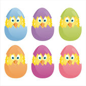 Colorful easter eggs — Stock Vector