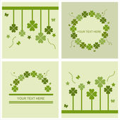 Cute st. patrick's day cards — Stock Vector