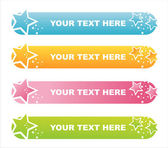 Colorful stars banners — Stock Vector