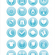 Royalty-Free Stock Vector Image: Web blue signs