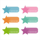Colorful stars frames — Stock Vector