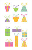Gift icons — Stock Vector