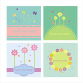 Cute floral frames — Stock Vector
