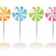 Stock Vector: colorful lollipops