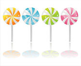 Colorful lollipops — Stock Vector