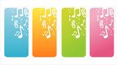 Renkli müzik afiş — Stok Vektör