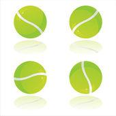 Piłki tenisowe błyszczący — Wektor stockowy