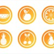 Orange fruits signs — Stock Vector