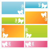Modern butterfly backgrounds — Stock Vector
