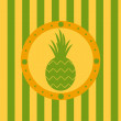 Stock Vector: Pineapple background