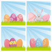 Colorful easter backgrounds — Stock Vector