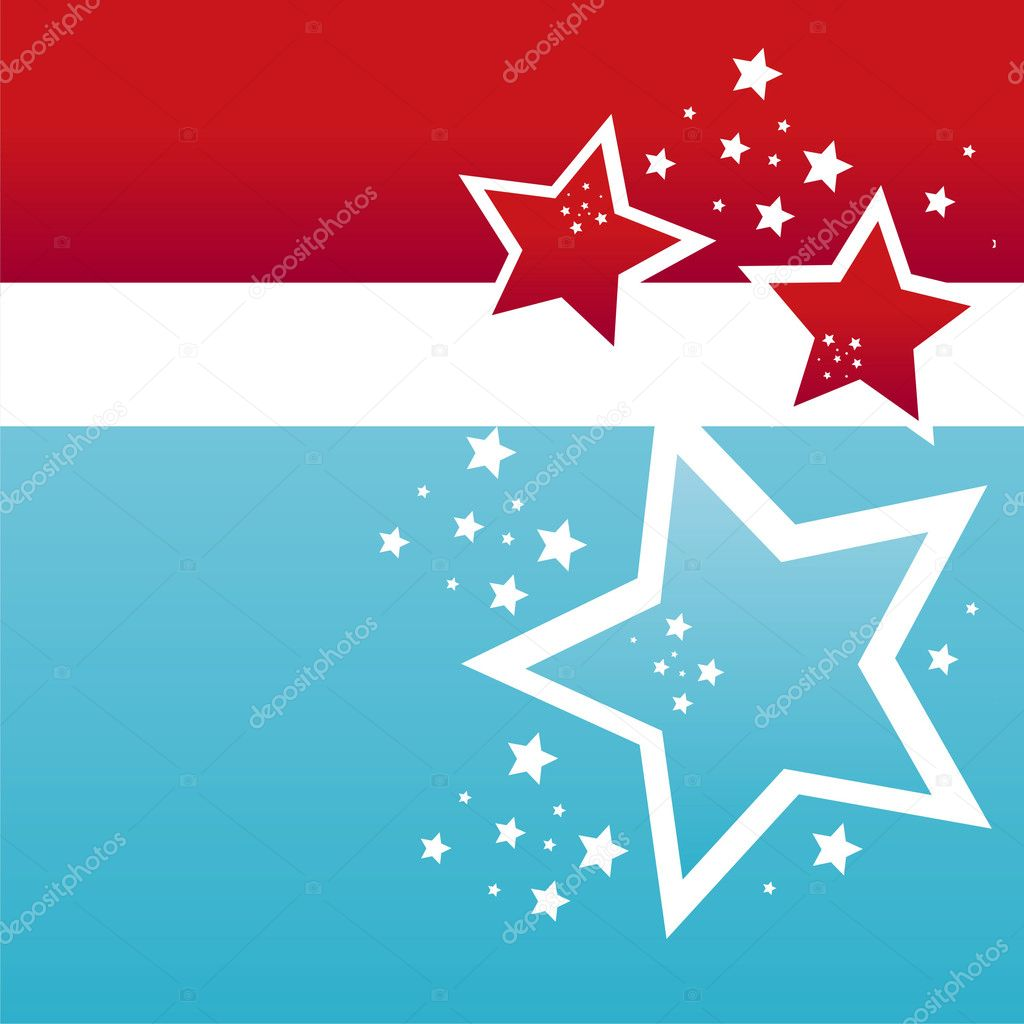 American colored stars background — Stock Vector #5325840