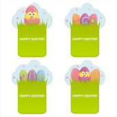 Colorful easter banners — Stock Vector