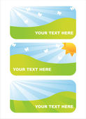 Shiny spring banners — Stock Vector