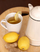 Fresh Lemon and Ginger Tea — Stok fotoğraf
