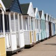 Row of beach huts — Stock Photo #4249392