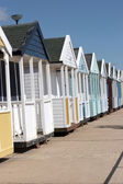 Row of beach huts — Stock Photo