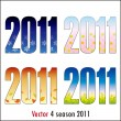 4 season 2011 — Vector de stock #4156857