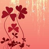 Heart-flower — ストックベクタ