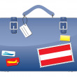 Royalty-Free Stock Vector Image: Travel Suitcase Austria flag
