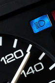 Speedometer with beam control light — Stock Photo