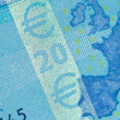 Security features on a 20-euro banknote - Stock Photo