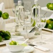 Royalty-Free Stock Photo: Table decoration with lime