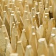 Stock Photo: Sharpened wooden posts