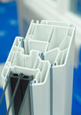 Cutaway model of a plastic window frame — Stock Photo