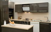 Modern fitted kitchen — Stok fotoğraf
