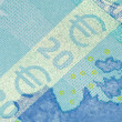 Stock Photo: Security features on 20-euro banknote